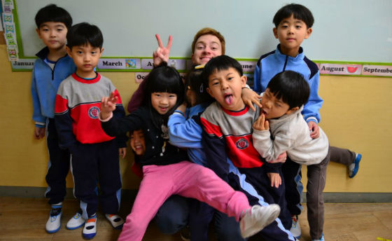Bryan Teaches English to Korean Kids